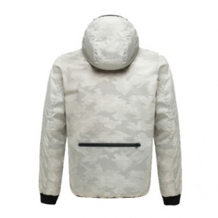 Uleemark Men's Double-Sided Down Jacket Camouflage White