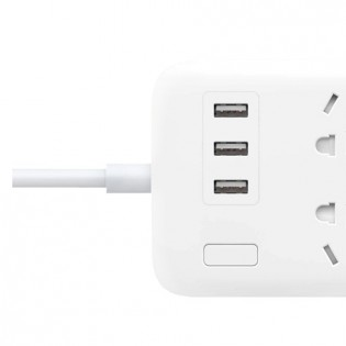 Xiaomi Mi Power Strip 6 Sockets / 3 USB Ports White