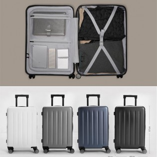 "Mi Trolley 90 Points Suitcase 24"" Gray Stars"