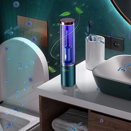 T-FLASH UV Disinfection Sonic Electric Toothbrush Q-05 Green
