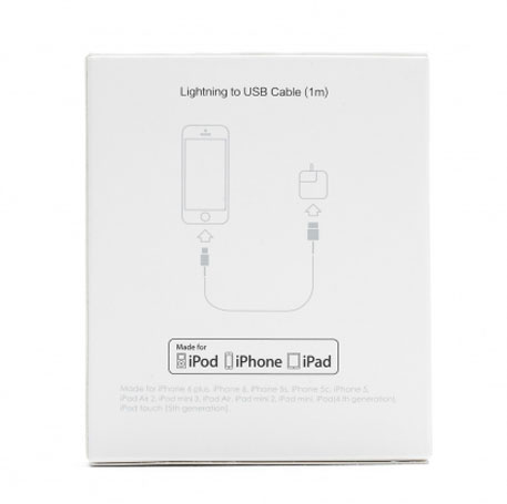 TopTurbo Apple MFi Certified Lightning to USB Cable White