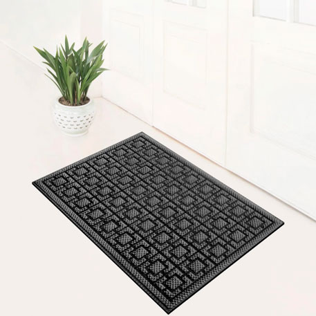 77+ Dustproof Rectangular Floor Mat 75x45cm Pineapple Pattern Blue Gray