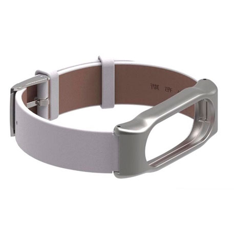 Xiaomi Mi Band 2 MiJobs Leather Strap White/Silver