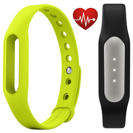 Xiaomi Mi Band Pulse Black + Mi Band Strap Green