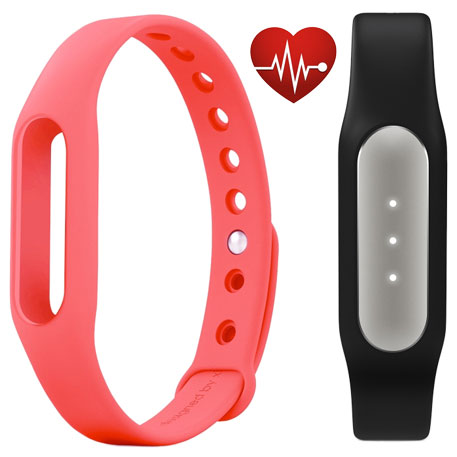 Xiaomi Mi Band Pulse Black + Mi Band Strap Pink