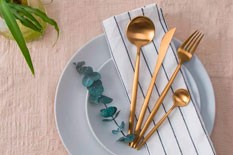 Maison Maxx 4 Piece Flatware Dinnerware Set Makes Eating Just a Bit More Enjoyable