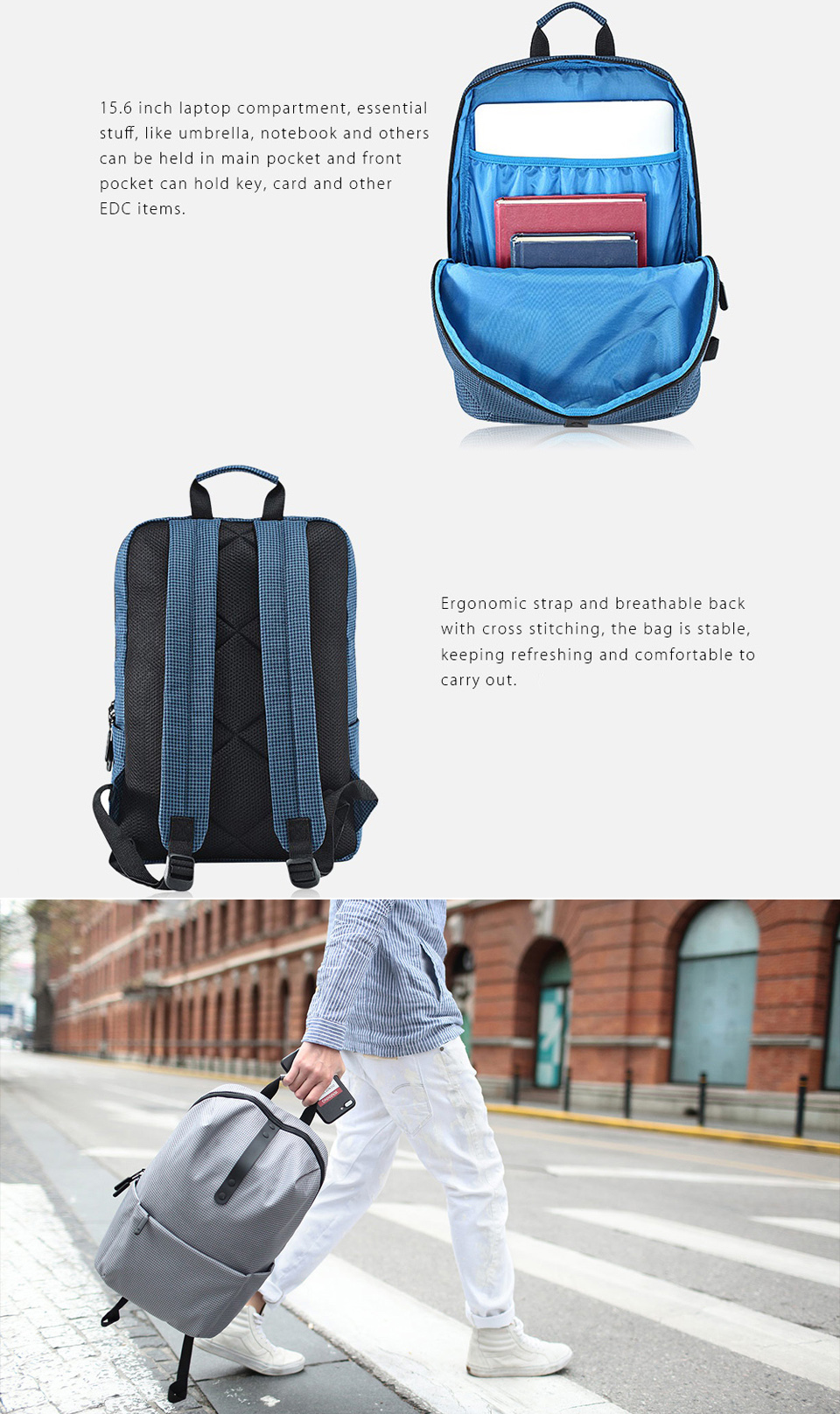 Xiaomi Mi Casual College Backpack Black Photo 5